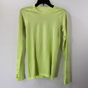 Lululemon Athletica Green Crewneck Top